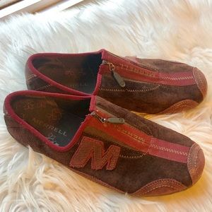 Merrell arabesque brown purple slip on hiking shoe